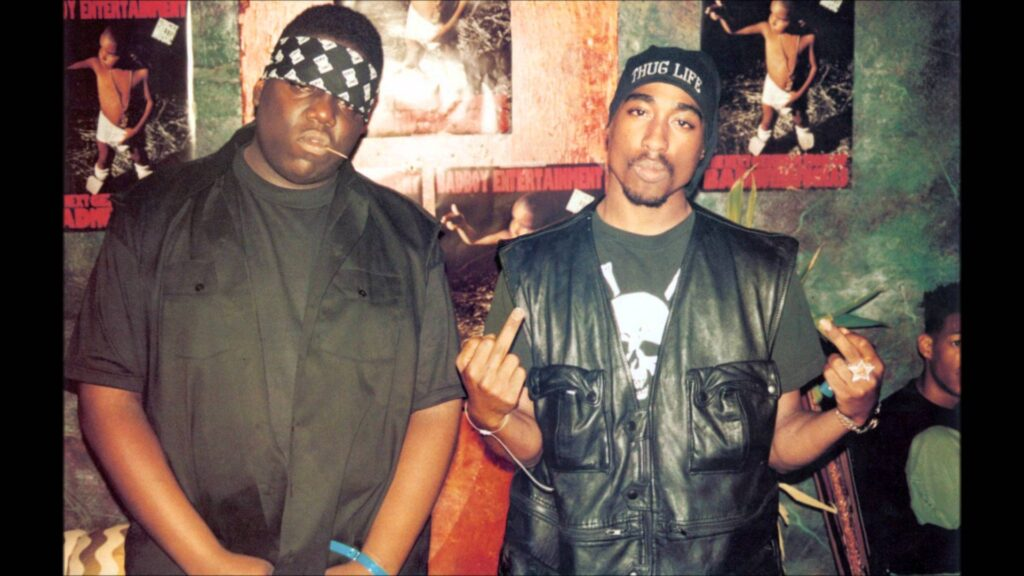 notorious big e tupac