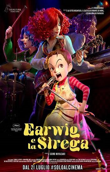 Poster Earwig e la Strega recensione